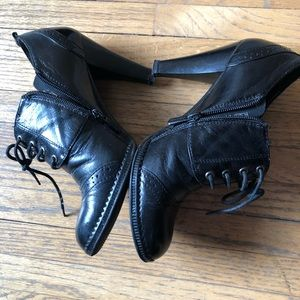 Shoes - High Heels Women Leather Boots.